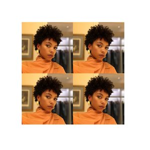 new hairstyle brazilian Hair African Americ short kinky curly wig simulation human hair short curly wig in stock
