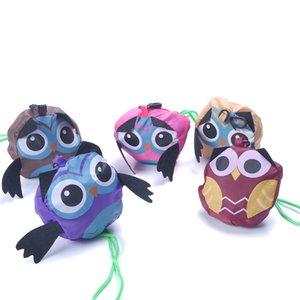 Cute Animal Owl Shape Plegable Bolsa de Compras Respetuoso del medio ambiente Regalo de las señoras Plegable Reutilizable Tote Bag Portátil Bolsa de viaje D19011204