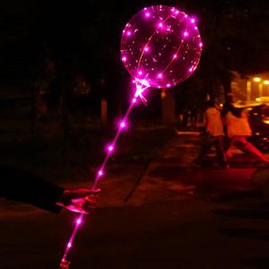 20-дюймовый Clear Бобо Воздушных шары с LED Light Bar, String Light креативного Balloon для рождения Свадебной Christmas Party Декоративного шара света