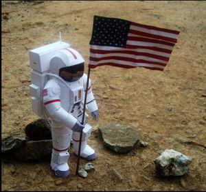 Astronaut model making scientific social paper models NASA astronaut public transport class paper models paper mold office papers mold