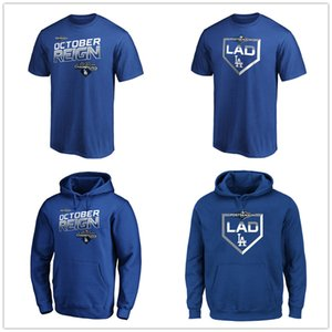 Los Angeles 2019 NL West Division Champions Dodgers T-Shirt Royal Designer T-Shirts رجالي جرافيك تيز مراوح بلايز هوديس مطبوعة