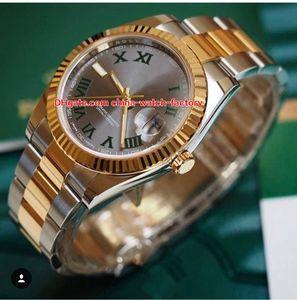 Горячие Товары Высококачественные Часы 40 мм Datejust 116333 Римский Циферблат 8 К Желтое Золото Сталь Азия 2813 Механические Автоматические Мужские Часы