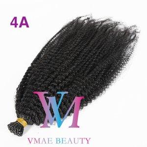 VMAE 4A 4B 4C 0.5G 100G Malasia India Remy Virgin I TIP STICK PRECIO PRINCIPIADO Keratin Stick Afro Rizado Virgen Remy Extensiones de cabello humano