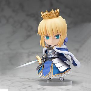 Presentes 10CM Fate Stay Noite Saber Armadura Action Figure PVC Janpanese Anime Figura Brinquedos Modelo dos desenhos animados Coleção Brinquedos T200618