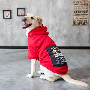 Köpek Büyük Polar Kapüşonlular Büyük Köpek Elbise Hoodie Kış Köpek T200101 için Köpekler Giyim sıcak sıcak giysiler