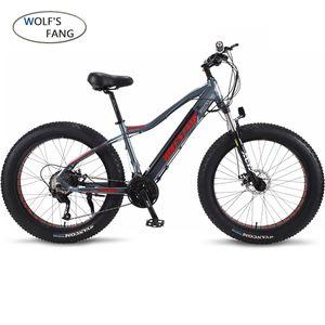 Neue ebike E-Bike 27 Geschwindigkeit 10AH 48 V 500 Watt E Bike 26 * 4,0 Mountainbikes Fett Straße Elektrische Fahrrad Aluminiumlegierung