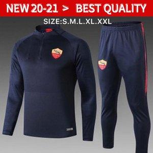 19 20 Roma training uniform Maillot de Foot football jogging chandal Equipe de france long sleeve soccer tracksuit training track suit