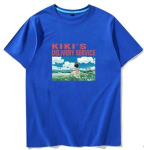 Kiki t-shirt manches Kikis service de livraison courte robe en tête d'impression Cartoon tee Colorfast vêtements unisexe t-shirt en coton coloré