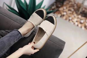 Sıcak Tasarımcı Marka Kadınlar Espadrilles Üst Kalite Tide Kadınlar Düz Ayakkabı Moda Rahat rahat makosenler canvans