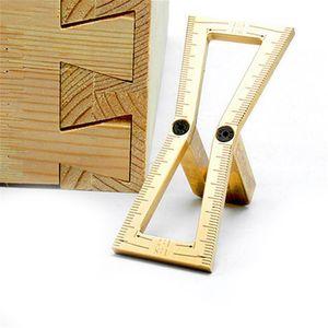 FREESHIPPING النجارة الرباط علامة قياس كاربنتر النحاس اليد قص الخشب المفاصل مقياس النجارة أداة 1: 5 1: 6 7: 1 1: 8