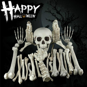28pcs creativo 3D di simulazione Props osso rotto cranio di Haunted Halloween decorazione per la barra del partito Haunted scena house Props