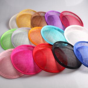 20cm Sinamay 매혹의 기초 매혹적인 붉은 파티 모자 만들기 칵테일 머리 장식 웨딩 헤어 스타일 17 컬러 선택 Y19070503