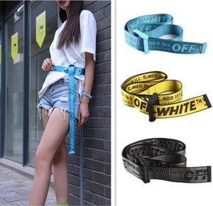 19SS marca de moda de alta calidad tela del cinturón hombres blet ocio cinturón amarillo oro blanco bien hechos de lona de los hombres correas de las mujeres 130-200cm
