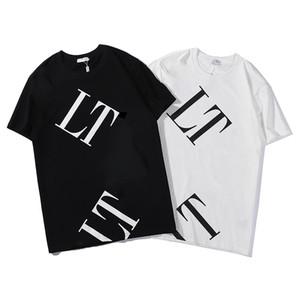2020 Mens T Shirt Мужчины Женщины маска Летняя футболка Hip Hop Черный Белый с коротким рукавом S-2XL