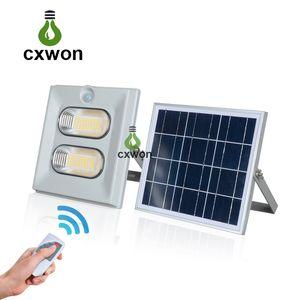 Iluminação exterior motorizada de energia solar IP67 impermeável 50W 100 W 150W LED Lâmpada 160LM / W Garden Solar