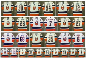 Vintage New York Islanders Jerseys 30 GARTH SNOW 94 Ryan Smyth 12 CHRIS SIMON 28 FELIX POTVIN 7 Stefan Persson 27 PECA 3 CHARABAN Retro Hockey