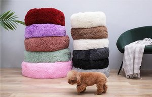 40 centímetros Melhor Cat cama macia longa Plush Dog Pet Bed For Dogs Basket Pet Products Casa Almofada Cat Pet Bed Mat Cat House Animais Sofá