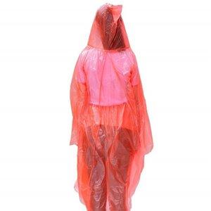 Viaggi di emergenza cappotti di pioggia monouso Split design PE cappuccio poncio esterna Rafting Impermeabili Adulti 2 Colore 1 8fs E19