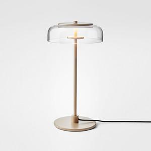 Sencilla de cristal claro de LED lámpara de mesa de sala de exposición de medio punto lámpara de mesa Para Hotel Reading Fashion Room Estudio de hogar iluminación TA061