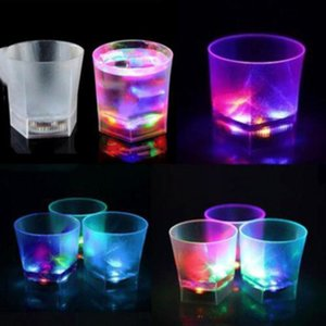 LED Luminous Frosted Cup Plastic Colorful LED Light Creative Water Sensing Drink Cup Birthday Party Wine Glass Novelty Gift Bar Supplies