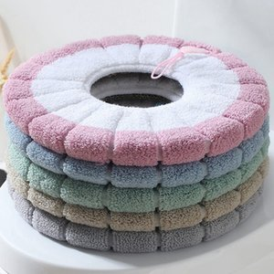 Plush Winter Comfortable Soft Heated Washable Toilet Seat Mat Set Bathroom Accessories For Home Decor Close Stool Mats
