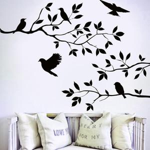 Nice Arts Home Decor Обои Летающие Птицы Дерево Стены Стикеры Съемный Наклейка Плакаты DIY Росписи Гостиной Декор