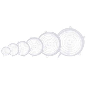 Silicone Stretch Lids,12 Pack Reusable Durable And Expandable Lids To Keep Food Fresh,Fit Various Sizes And Shapes Of Containers