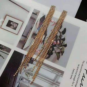 Fashion- luxury designer jewelry women earrings Long tassel earrings for women party gift jewelry free shipping