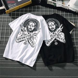 2020 новый стиль мужская женская дизайнерская футболка лето с коротким рукавом тройники цветочный принт мужская женская рубашка хип-хоп повседневная уличная одежда B101558T