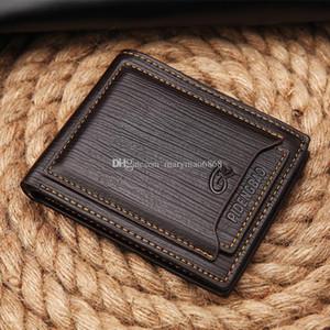 Venta caliente nuevo estilo de exportación para hombre de la marca de lujo del cuero del diseñador del monedero billetera corto cruz alta calidad Cross Corto carpetas para los hombres libres del envío