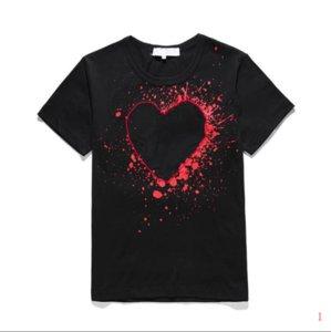 20s Mens Brand T Shirt Designer Fashion Summer New Brand Tshirts Luxury Tshirt Short Sleeve Tees Heart Print Funny Top Tees