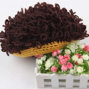2019 Casual Children Wig Hat Handmade Wool Wavy Hair Afro-hair Female Cap Headdress Turban Hair Accessories