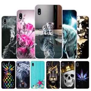 Fall für Samsung Galaxy A10 A50 A20 A30 A40 e-Telefon-Kasten-Silikon-weicher TPU-Abdeckung für Samsung A10 Funda Capa Nette Blumen Auto