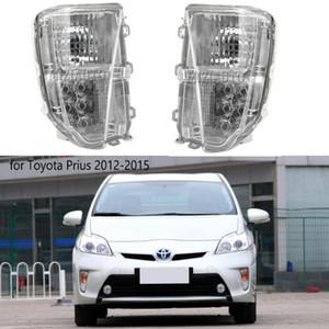 Gündüz Lamba Günü FogLamp Meclisi Koşu LED Ön Tampon Sis Işık İçin Prius 2012-2015 Sürüş Işık DRL