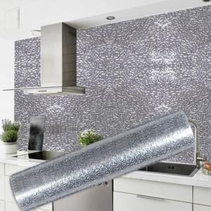 Witchen Wall Stove Aluminum Foill Stickers Anti fouling High Temper Temperature Self Luchesive Wallpaper Sticker 40 * 100 cm