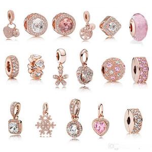 S925 Sterling Silber Schmuck Diy Beads für Pandora Ale Charm Für Pandora-Armbänder für Frauen Für europäische Gold BraceletNecklace stieg