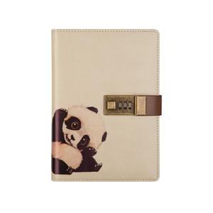 Agenda Agenda con Lock Travelers Notebook Refill Leather Journal Carino Padlock Diary Planner Kawaii Agenda Agenda