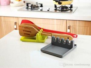 Inizio Tagliere cremagliera del supporto multi-purpose di plastica della cucina vaschetta del POT del coperchio di copertura gancio Block Strumenti Shelf utensile da cucina di riposo