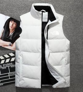 2019 nova marca dupla do norte de alta qualidade dos homens para baixo do colete para baixo jaqueta outerwear face grosso inverno sportswear colete para homens 1803