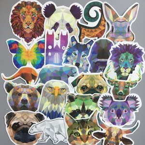 35pcs géométrie Galaxy autocollants animaux mixte drôle de bande dessinée voitures Graffiti Autocollants Bagages Ordinateurs bricolage Stickers pc portable étanche