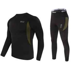 New Inverno Top Quality homens roupa interior térmica underwear conjuntos de compressão de velo Sweat rápida secagem Thermo Men Underwear Roupa
