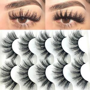 5 accoppiamenti / pacchetto 6D Faux Mink capelli cigli falsi lunghi spessi naturali Eye Lashes bioccoli di trucco di bellezza Multilayers Extension Tools