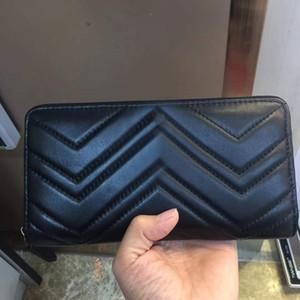 Hot vente en gros 2019 dames de la mode des femmes portefeuille de pas cher à glissière unique porte-monnaie en cuir d'origine dame dames d'affaires à long bourse longue