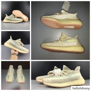 Best Authentic Originals V2 Citrin Cloud White Men Women Running Shoes 3M Reflective FW5318 FW3042 FW3043 Kanye West Sneakers With Box