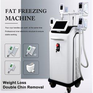 5 kulplu ücretsiz kargo ile yağ cilt soğutma makineleri dondurma Yeni cryolipolysis vücut şekillendirme donma makinesi cryolipolysis