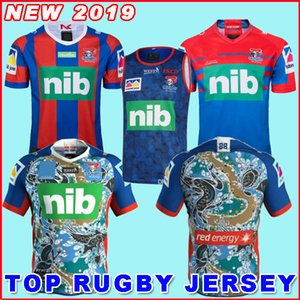 2019 newCA STLE KNIGHTS Accueil Veste Rugby Jersey NEWCAS TLE KNIGHTS 2019 Jersey Indigenous Australia NRL Rugby League chandails Taille S-3XL
