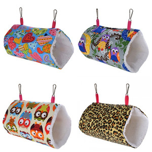Mini Pet Hamster Hérissons Hamacs Camo points Prints petits animaux Tunnel Jouets Animaux Cage Rat Hot Vente 9 9wc E19