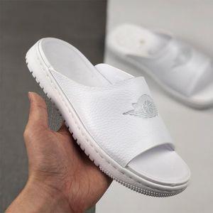 New wmns Modero 1 1s Jumpman Slides slippers Men Women Black White pink particle beige phantom Sandals Mens Beach shoes flip flop 36-44