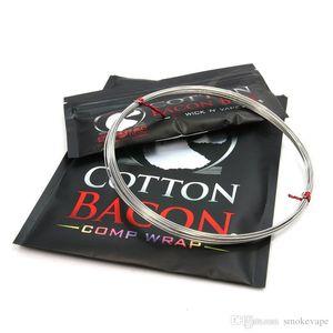 El más nuevo algodón Bacon Wire Wraps Comp Vape Wick N Vape Cotton Bacon Bits Heat Wire con RDA RTA RDTA Algodón Venta caliente de alta calidad DHL gratis