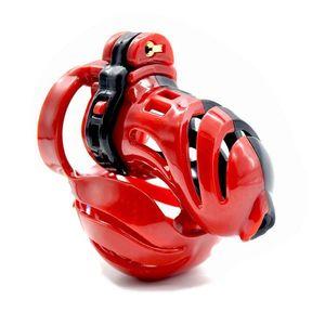 3D de peso ligero cinturón castidad masculina Bondage Negro Nueva Chastity Device resina roja # R76 Wnudd